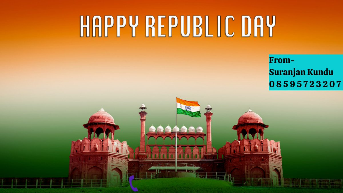 A thousand #salutes to this great #nation of ours.  May it become even more prosperous and great?  Happy #RepublicDay2021  Stay #Healthy, Stay #Safe & Stay #Fit. From Suranjan Kundu 08595723207  #Vandemataram  #suranjankundu #republicday #26thJanuary #India