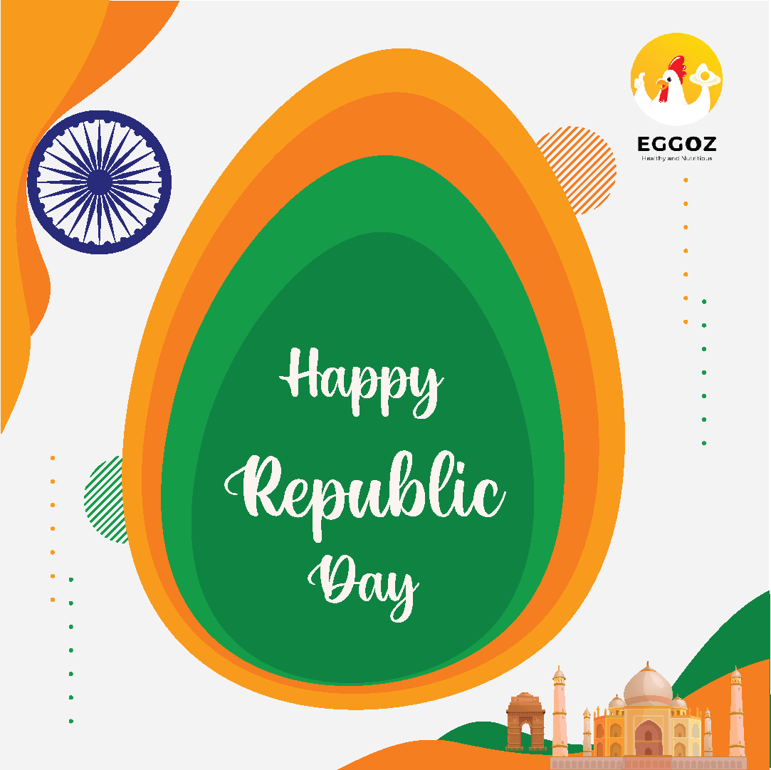 This Republic Day let's celebrate Good Health and Protein Sufficient Diet with EGGOZ. Happy 72nd Republic day!  #loveeggs,#yummy, #healthyfinds, #availableinindia, #foodie, #healthy, #cullinaryworkout, #foodblogger, #justeatit, #eathealthybehealthy, #stayfit, #eathealthylivehappy
