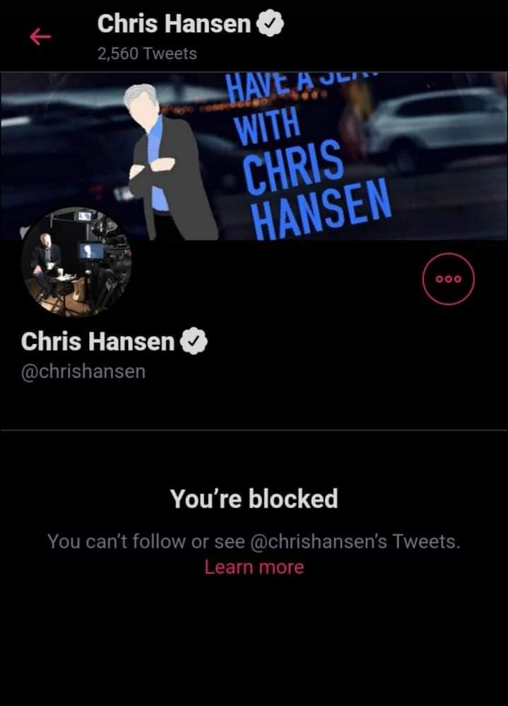 . #ChrisHansenIsOverParty