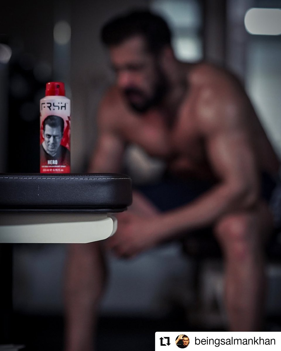 #Repost by @BeingSalmanKhan  • • • • • Stay Frsh, Stay safe n Stay fit ... @FrshGrooming   Get yours here: