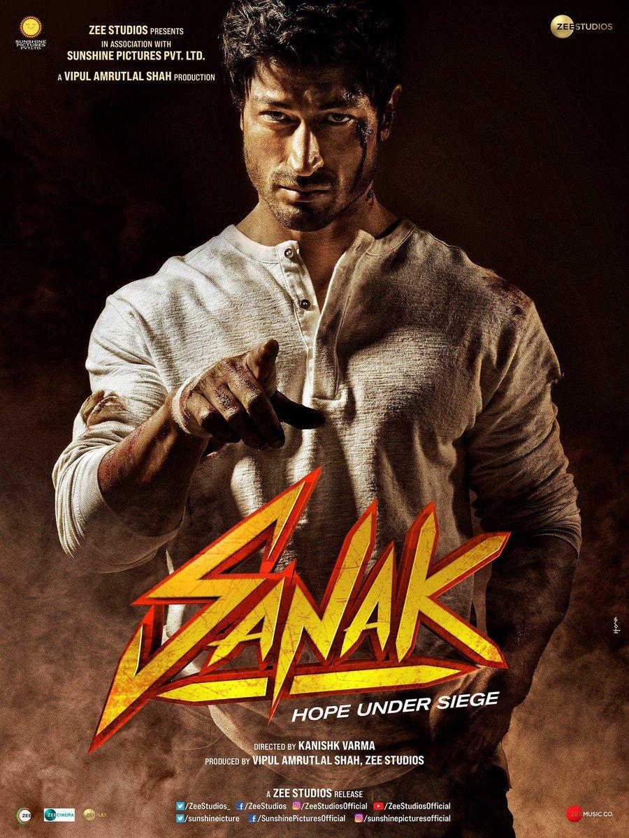 Love the first look of #Sanak @VidyutJammwal bro! Looking forward to watching you and @RukminiMaitra light the screen on fire!  #SidK #VipulAmrutlalShah @IamRoySanyal @kanishk_v @sunshinepicture @Aashin_A_Shah @ZeeStudios_ @ZEE5India @zeecinema