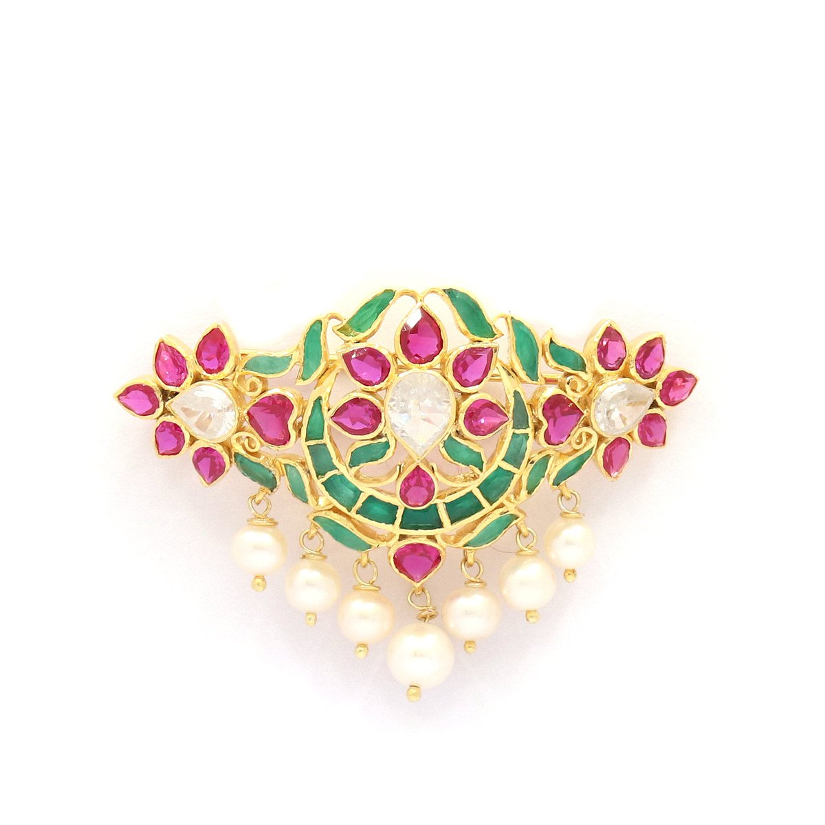 Excited to share the latest addition to my #etsy shop: Green Onyx Hydro Ruby Pearl CZ 925 Sterling Silver Gold Plated Saree Pin Brooch Wedding Jewellery Festive Wear Party Wear  #anniversary #thanksgiving #luck #unisexadults #stone #midcentury #p