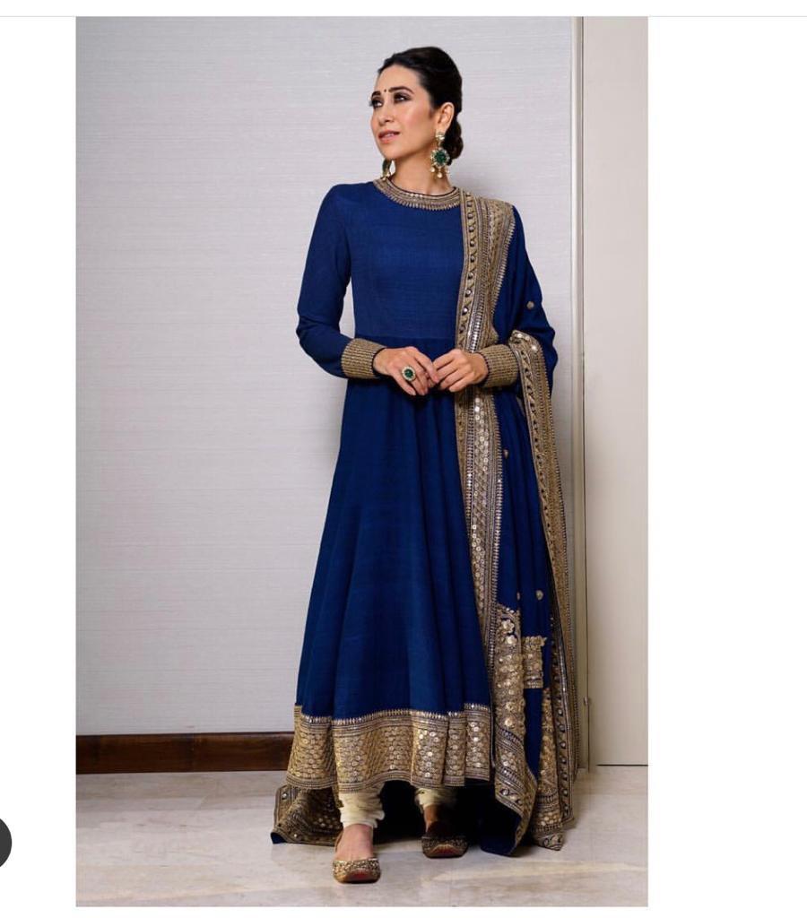 Excited to share the latest addition to my #etsy shop: Karisma Kapoor in Navy Blue Sabyasachi Anarkali SHOP NOW :    #blue #indianwear #weddingwear #engagementwear #womensclothing #croptop #saadi #bridal #mehendilehenga