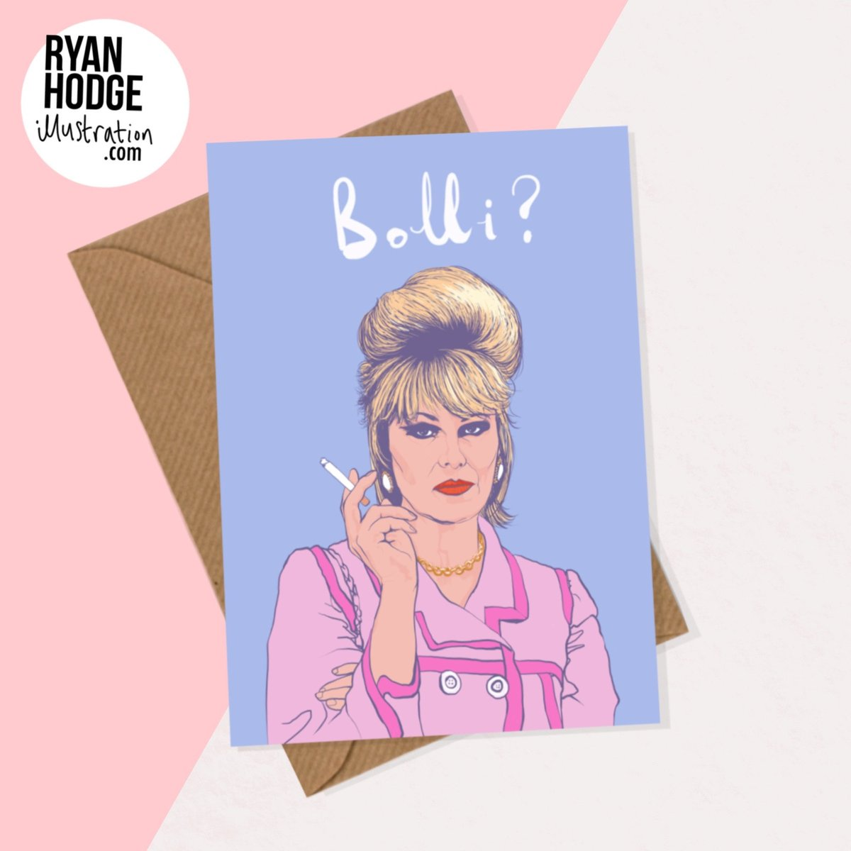 Check out my #etsy shop! This Absolutely Fabulous Patsy Stone Greetings Card is available to buy now!   #pink #birthday #blue #absolutelyfabulous #champaign #bollistolli #proseccogirls #bestfriendgift #patsystonecard #illustration #birthdaycard