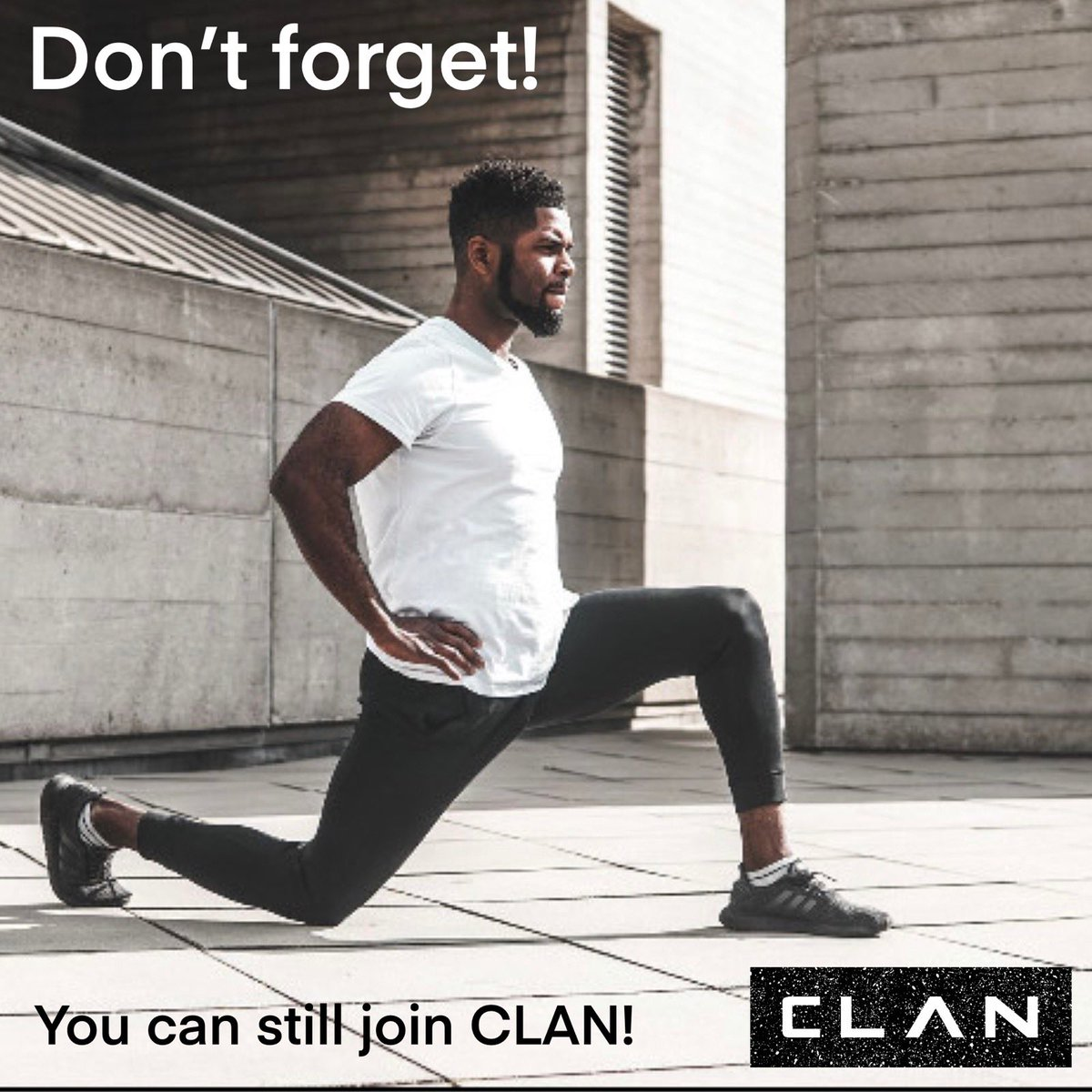 Don't forget to sign up to CLAN well being 💪🏽  This is a great way to keep your mental and physical health in shape and enjoy weekly workouts from the comfort of your home!  Remember 10% of your sign-up fee will be donated to Wellwater🤗  #tuesdayvibe