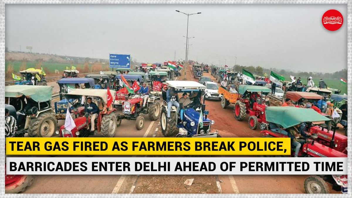 A clash broke out between police and protesting farmers after the latter reached ITO in the national capital and tried to move towards Lutyen's Delhi, prompting the force to use lathicharge and tear gas shells against them. #FarmersProtest #tractorParade #FarmersProtests