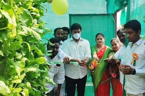 #Congratulations & #bestwishes on the grand opening of 'HydroFarmer' - the unique Vertical #Hydroponics Farm with a mission to supply #Healthy & #Nutritious greens to the future generations.  @trsrajasekhar