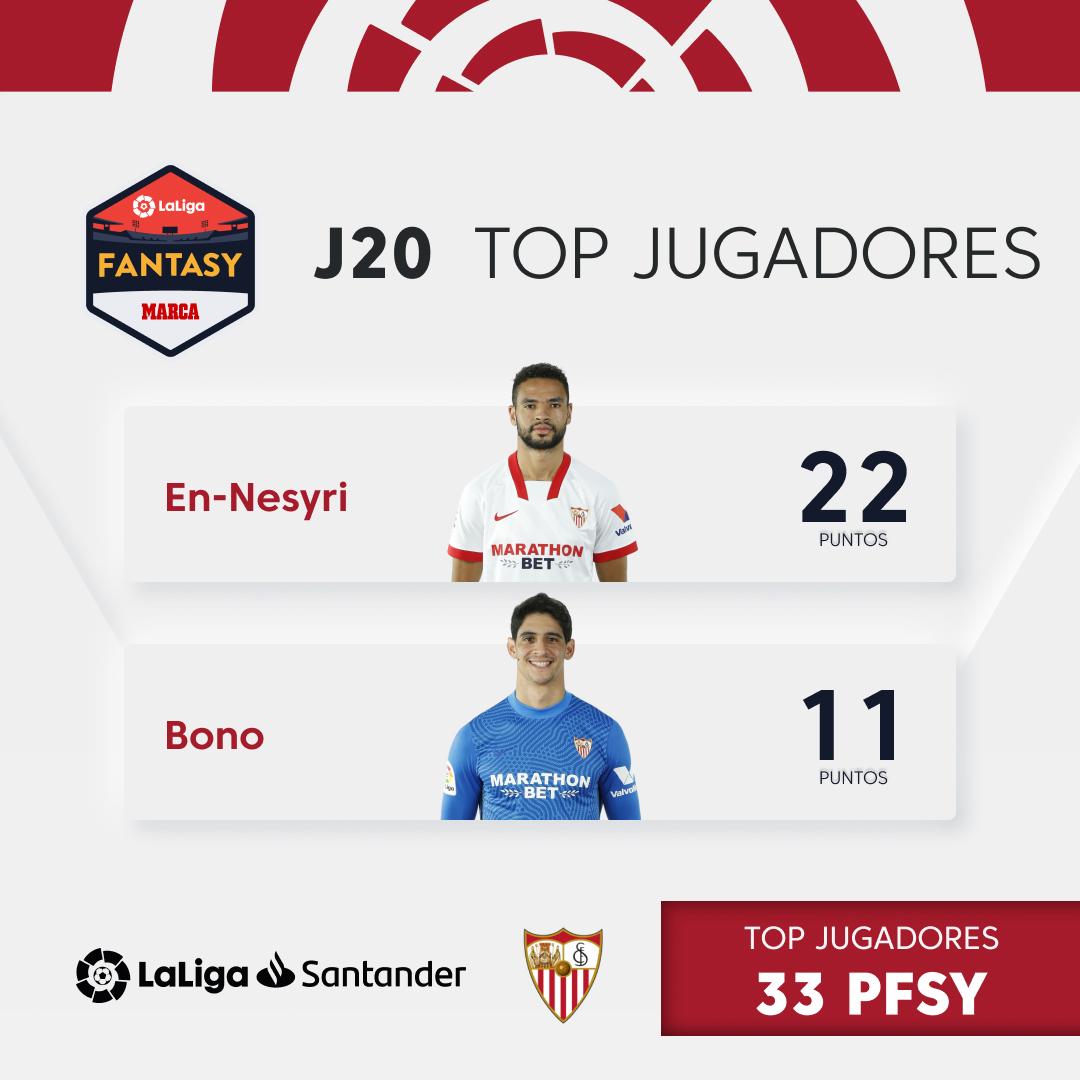 ⚽🇲🇦 @ennesyri9 👐🇲🇦 @Bonoyass  ❤✨ ¡Ambos jugadores marroquís del @SevillaFC destacaron esta semana en @FantasyLaLiga!  📲   #HayQueVivirla