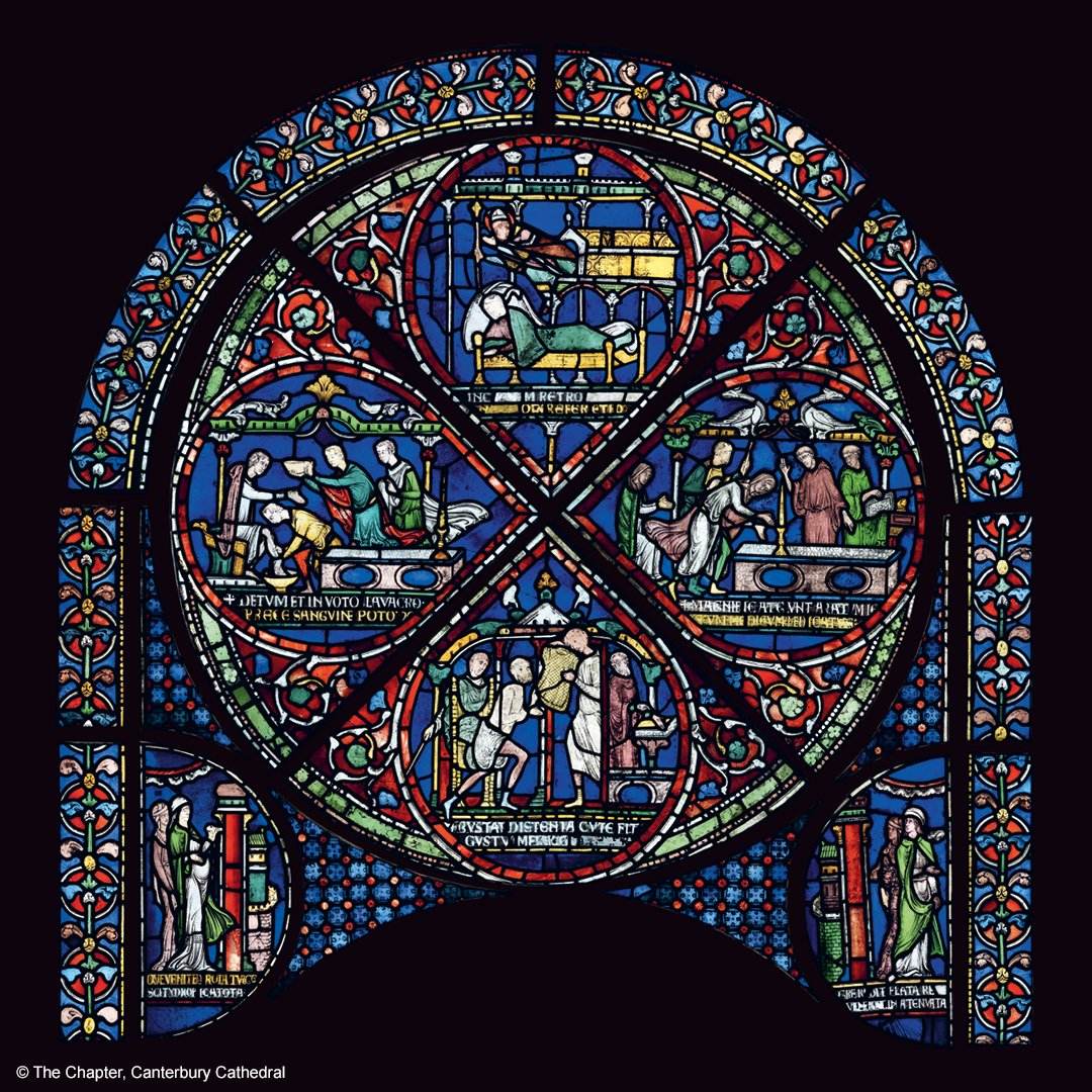 BREAKING NEWS 🚨  an entire 800-year-old stained glass window from Canterbury Cathedral will be the centrepiece of the @britishmuseum's upcoming major exhibition on Thomas Becket  the stunning window depicting miracles has never left @No1Cathedral before