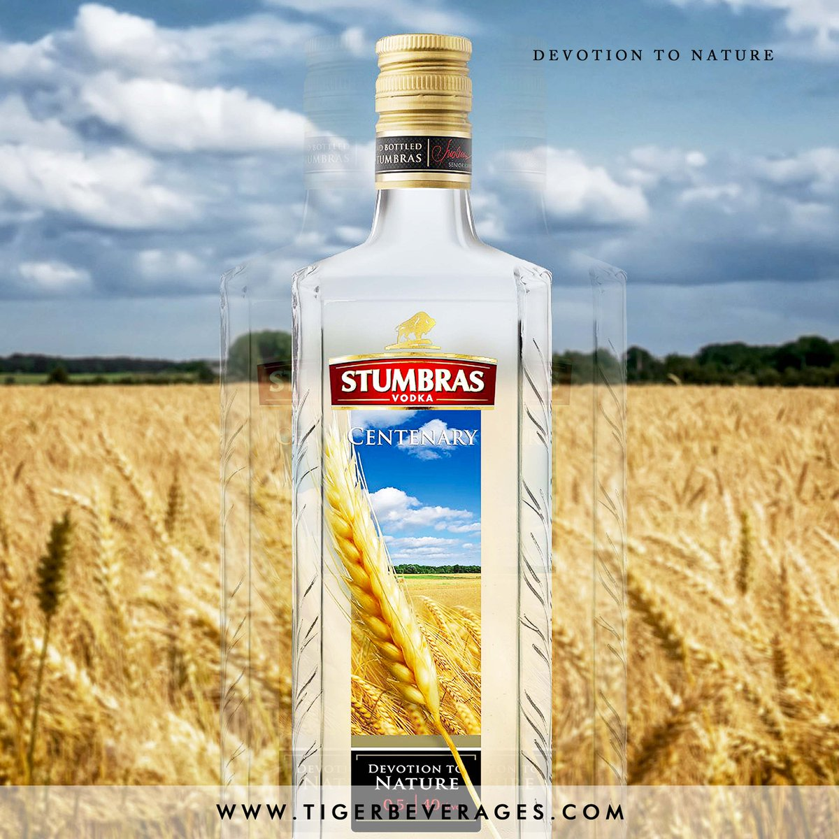 Stumbras Vodka Centenary is a natural and matured beverage. A stalk of wheat is placed into each bottle for a unique touch. You definitely want this Lithuanian goodness because what? Wahala no dey finish😁🥂 #TuesdayVibes #Vodka #TigerBeverages