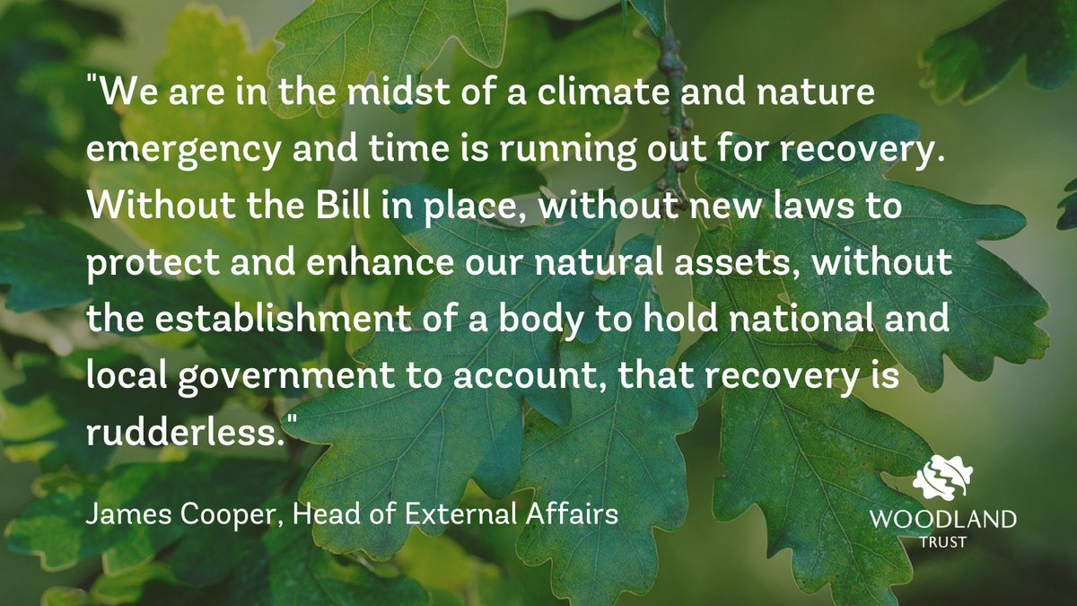 """We are frustrated that the government has decided to pause the #EnvironmentBill.   """"Government has made bold statements on its environmental ambition so a delay to the long awaited and much needed Bill is a frustrating and dispiriting setback we can ill afford."""" - @JVCooper100"""