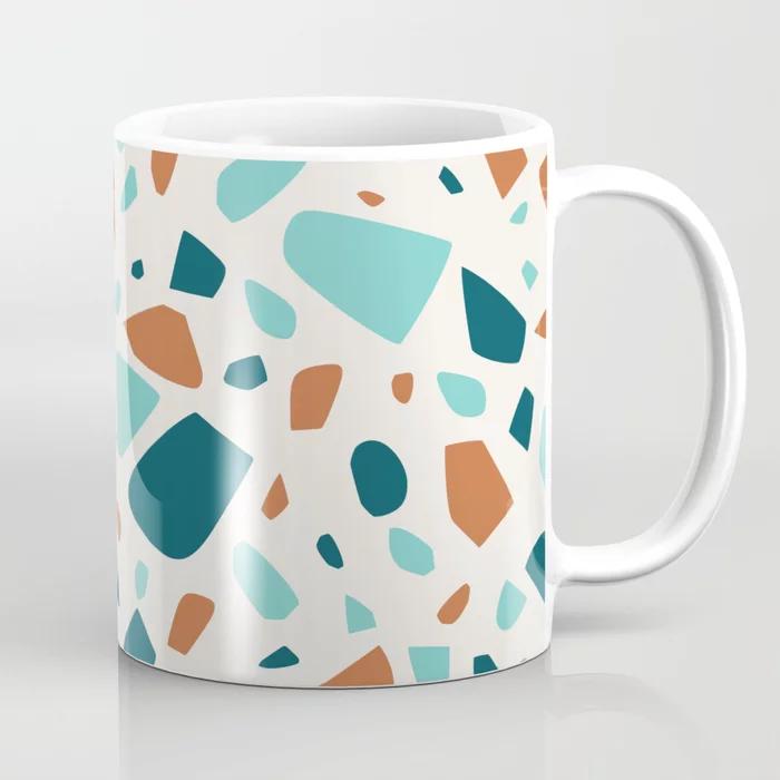 Enjoy 25% Of Everything!  #mugs #coffeemug  #artprints #mugs #giftideas #valentinesdaygift #valentinesdaygifts #giftsforher #mug #travelmug #pattern #floral #terrazzo #coaster #tabletop #agate #shopsmall #tableware #blue #magenta #homewares #sale #society6