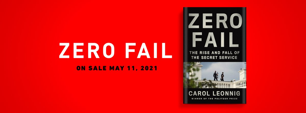 So thrilled to report this news: My book on the @SecretService -ZERO FAIL- is coming May 11! Cannot wait to share the heart-stopping stories of this elite force, and alarming scandals some hoped to conceal. Be among the first to pre-order your copy.