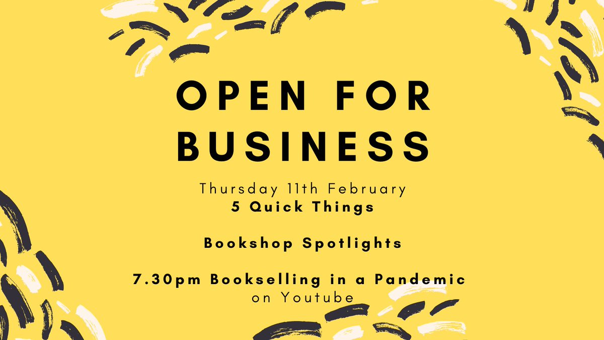Thurs 11th we'll be spotlighting bookshops who've adapted in new ways over the last year along with 5 Quick Things videos and hopefully a bookshop tour! On Youtube at 7.30pm I'll be talking to @wordonthewater about Bookselling in a Pandemic!  #LondonBookshopCrawl