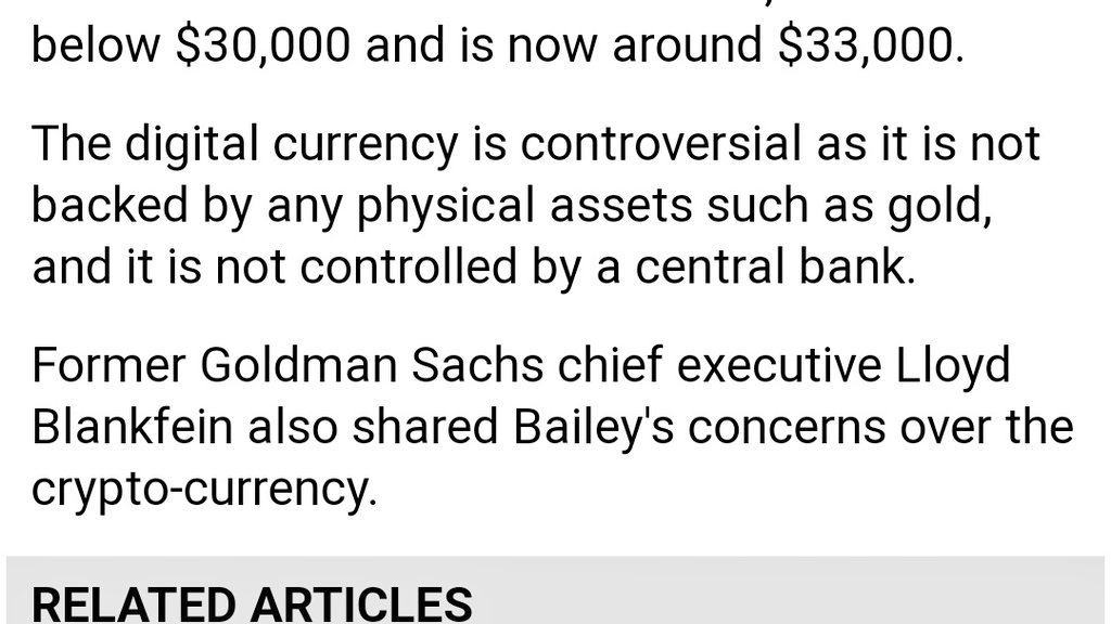 Bank of England has concerns over cryptocurrency as it is not backed by gold or central banking 🤣🤣 #BTC #ETH #IOTA #THETA