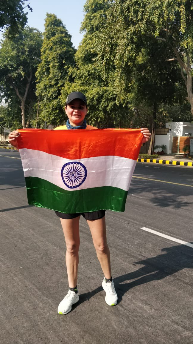 Happy 26.01! To be running through fortress Delhi! 🤟🏼💪🏼 #gratitude #fitness #joyOfRunning #repulicday2021