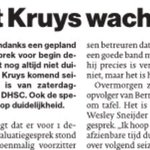 In #ADUN: Gert Kruys wacht op duidelijkheid van DHSC. 'De bal ligt bij Wesley Sneijder en de club'