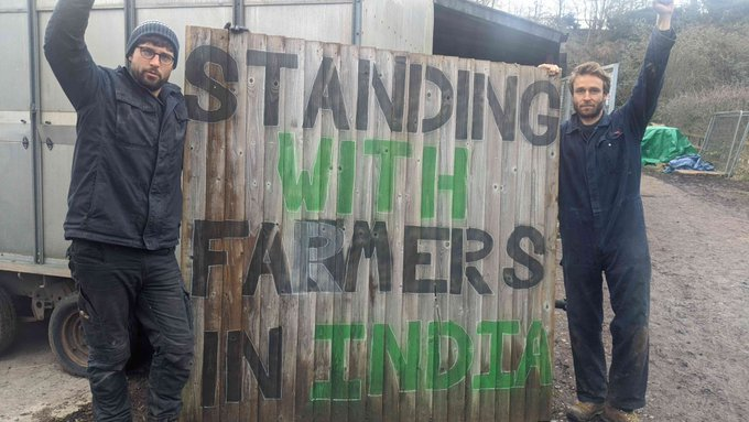 Protestors supporting Indian farmers demonstrate in NYC Photo