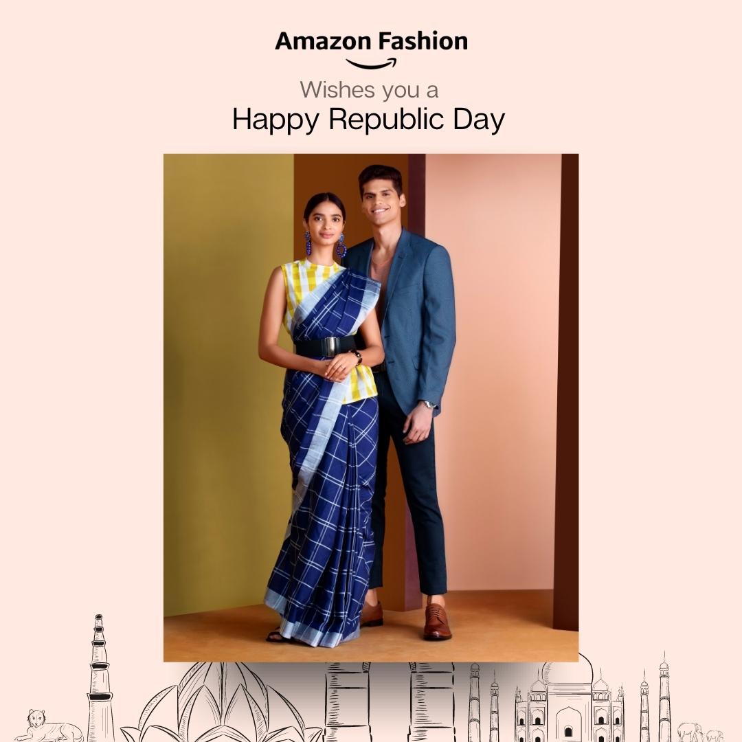 Celebrate the spirit of being Indian. Wishing you a Happy Republic Day! . . #RepublicDay2021 #RepublicDay #India #AmazonFashion #HarPalFashionable