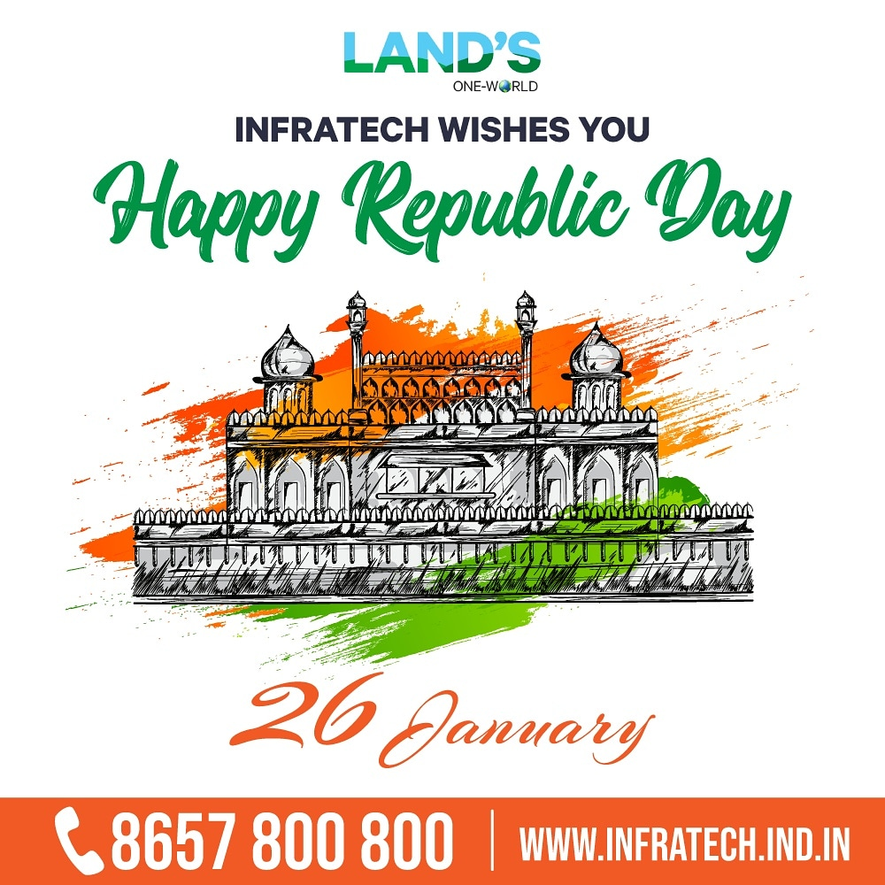 Today, let us remember the golden heritage of our country and feel proud to be a part of India. Happy Republic Day 2021 . . To know more call on 8657800800 Or visit   #happyrepublicday2021 #realestate #festiveseason #bookplots #haveadreamliving