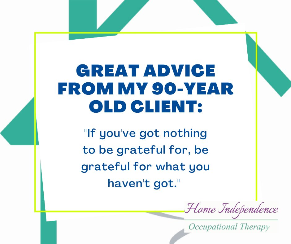 Love this quote from my 90-year old client! I love the focus on appreciation - cheers! 😍 Thank you!  #appreciation #gratitude #wiseadvice #Leicestershire