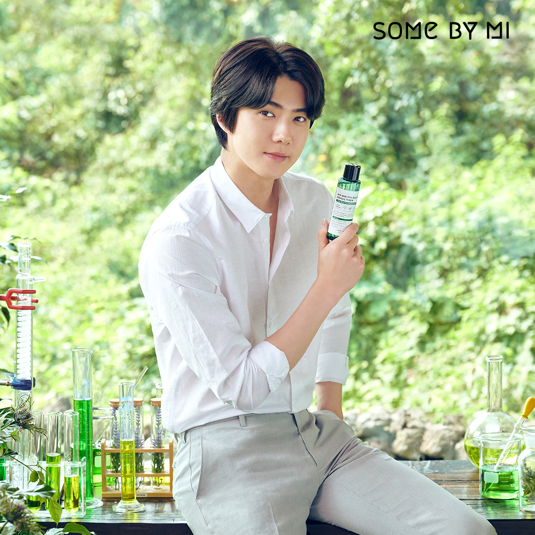 Thank you for TikTok 10K followers🎶 #Somebymi Miracle Line routine has been uploaded,  so come to see 🐥💛    #skincare #kbeauty #miracletoner #toner #sehun #exo