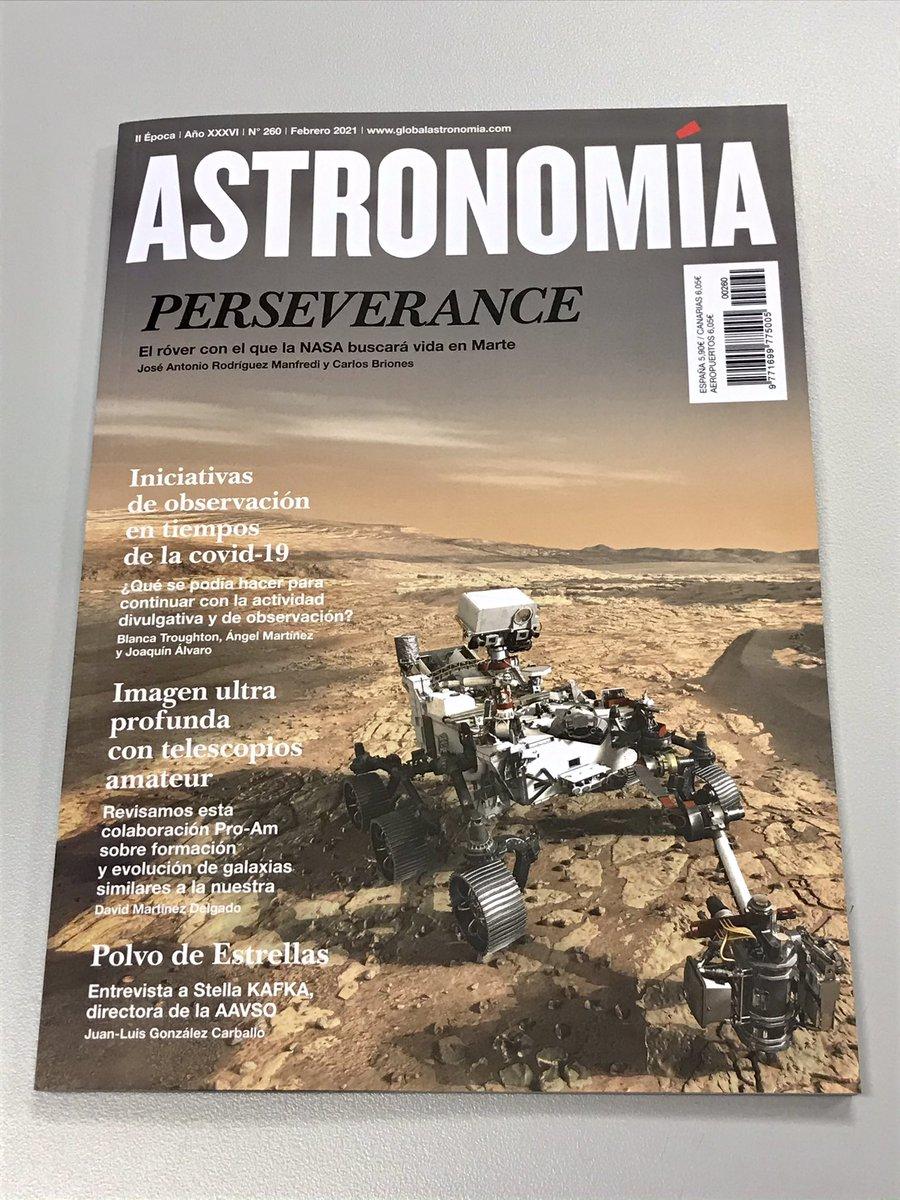 Ya en los quioscos el núm. de febrero de @astronomia_mag, que ha quedado espectacular. Enhorabuena, @agomezroldan!  Un placer haber escrito junto a mi amigo José Antonio @ja_manfredi el artículo central, sobre @NASAPersevere... que llegará a #Marte el 18 feb :-)  #CountdownToMars