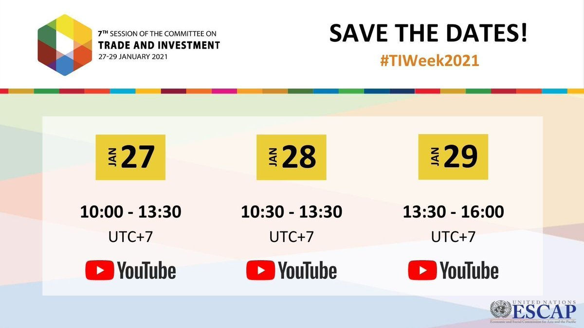 The Trade & Investment Committee is TOMORROW. Get a (virtual) front-row 🪑 to the action for talks on:   💹Recent trends in #AsiaPacific                                                           🔐Rising #Protectionism  😷 #COVID19 pandemic     #TIWeek2021
