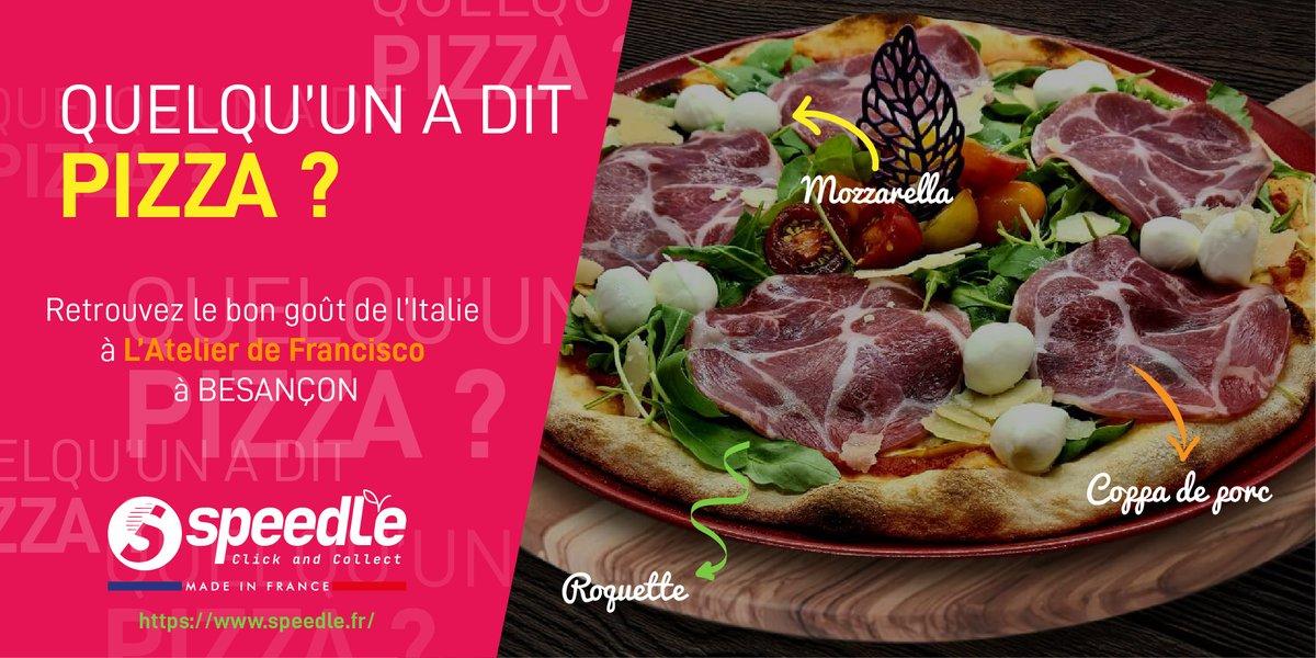 👉/ QUELQU'UN A DIT PIZZA ?🍕/ Éveillez vos papilles avec les spécialités italiennes de L'Atelier de Francisco que vous pouvez dès à présent commander en mode #clickandcollect #SPEEDLE !   #restaurationrapide #venteaemporter #madeinfrance #food #pizza #italianpizza #italianfood