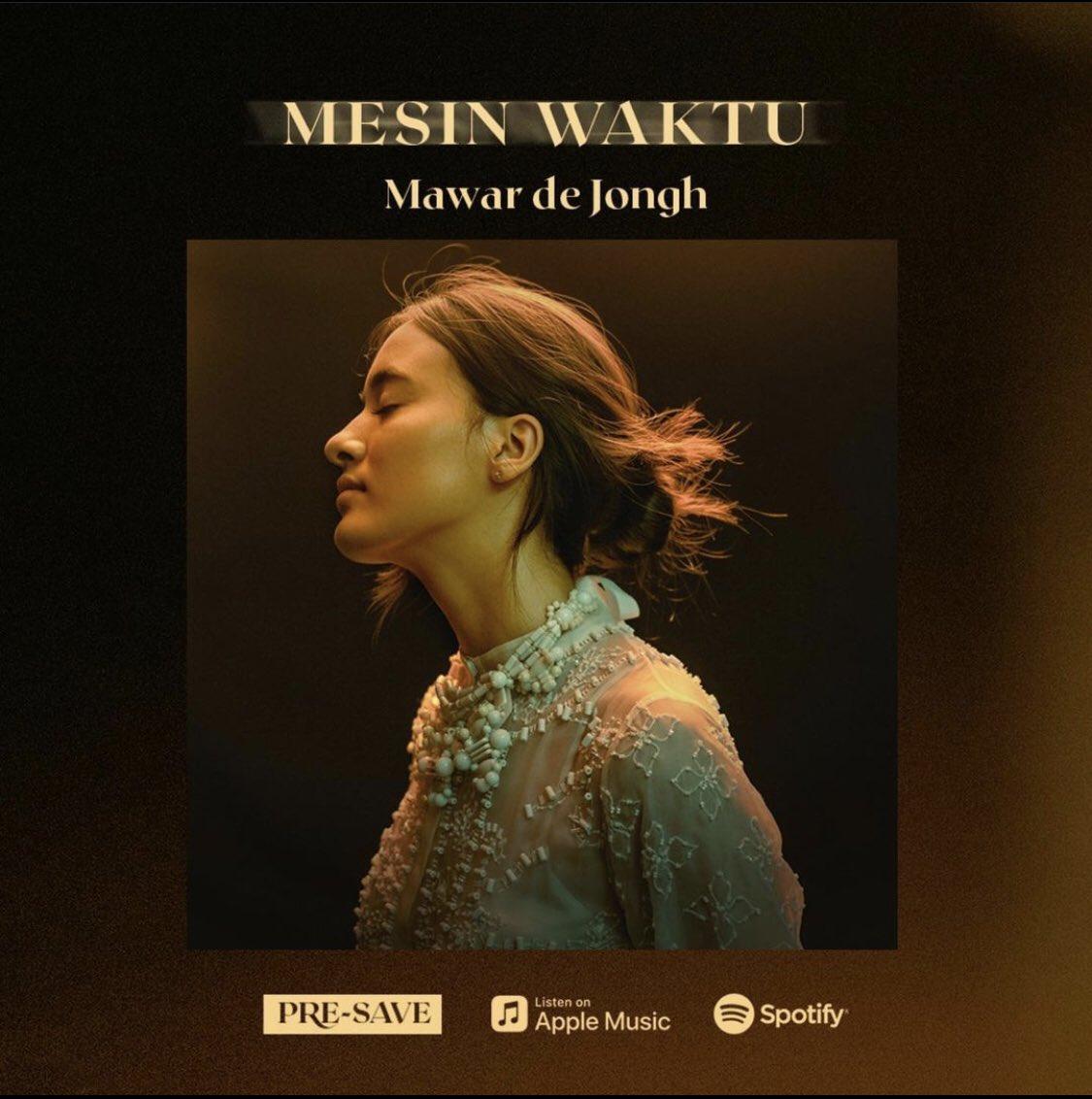 Single terbaru Mawar de Jongh - Mesin Waktu udah bisa kamu Pre-Save. Jangan lupa tonton MV nya di tanggal 29 Januari 2021. Cheers!