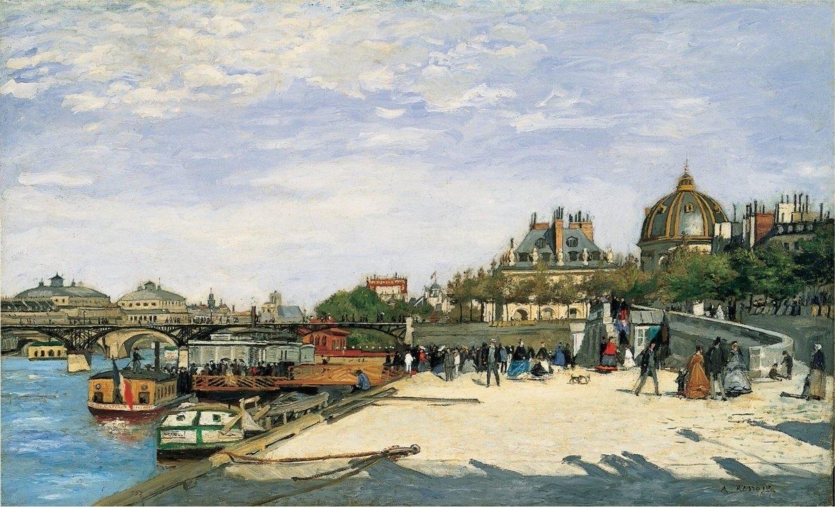 Replying to @ParisZigZag: Le Pont des Arts, entre 1867 et 1868, peint par Auguste Renoir #Parisenpeinture