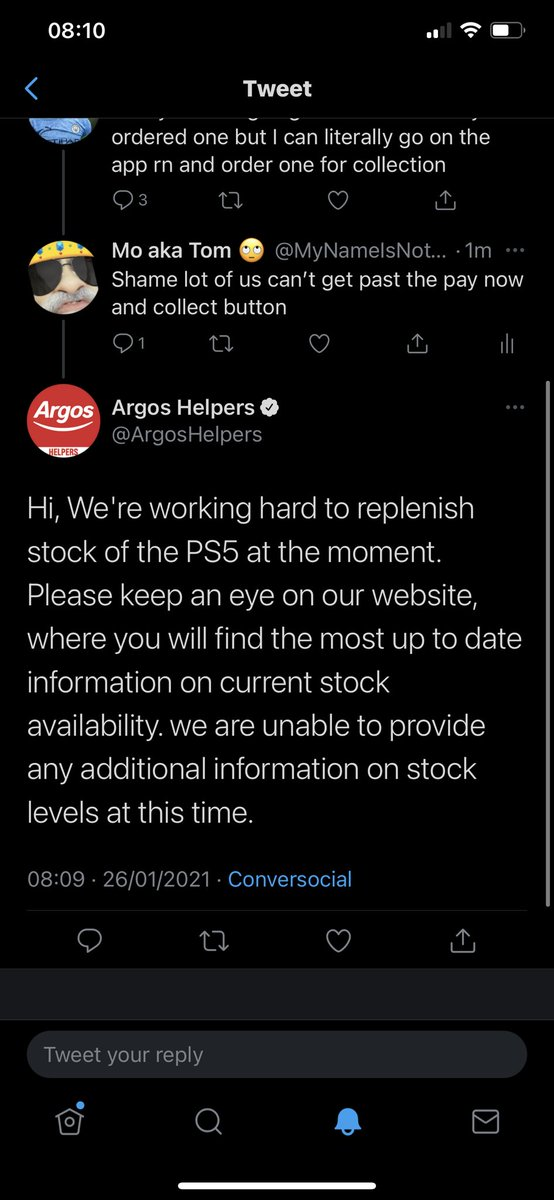 Argos just said this I'm not sure what that means another drop maybe?? I'm not too sure @PS5UpdatesUK @Ps5Instant @PS5UKStock  #ps5restockuk #ps5ukstock  #ps5stockuk #Argos #ArgosPs5 @ArgosHelpers  @Argos_Online