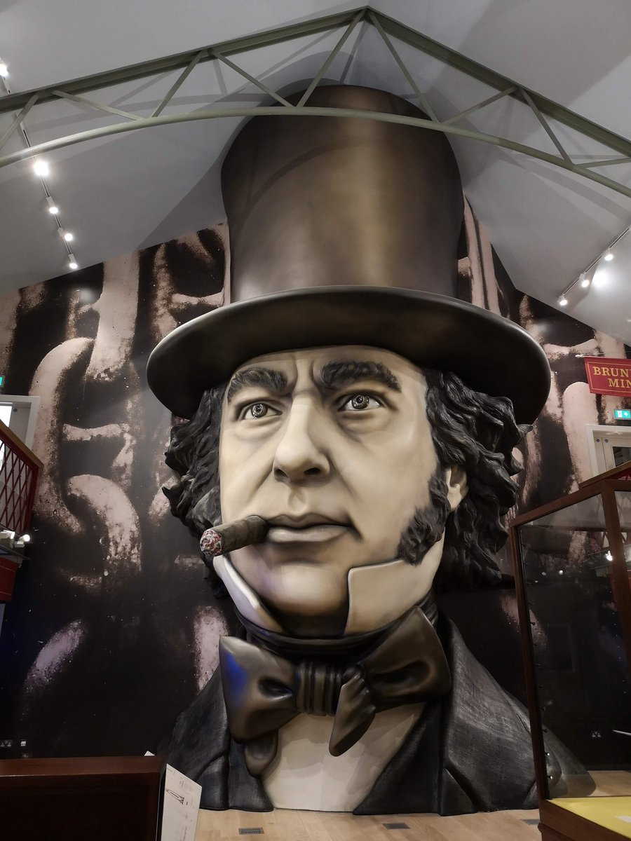 #day21 Being Brunel @SSGreatBritain ol' big brain himself #exhibitionphotographs #oneaday #museumblogger