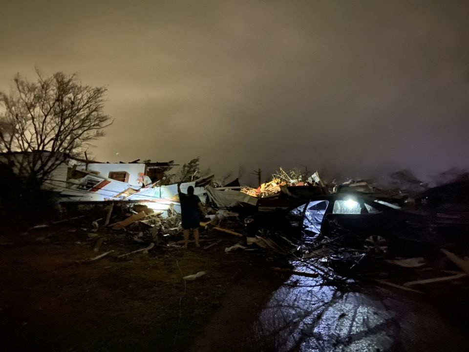 Here are more pics coming into us of the aftermath from the Fultondale, AL tornado Monday night. #alwx