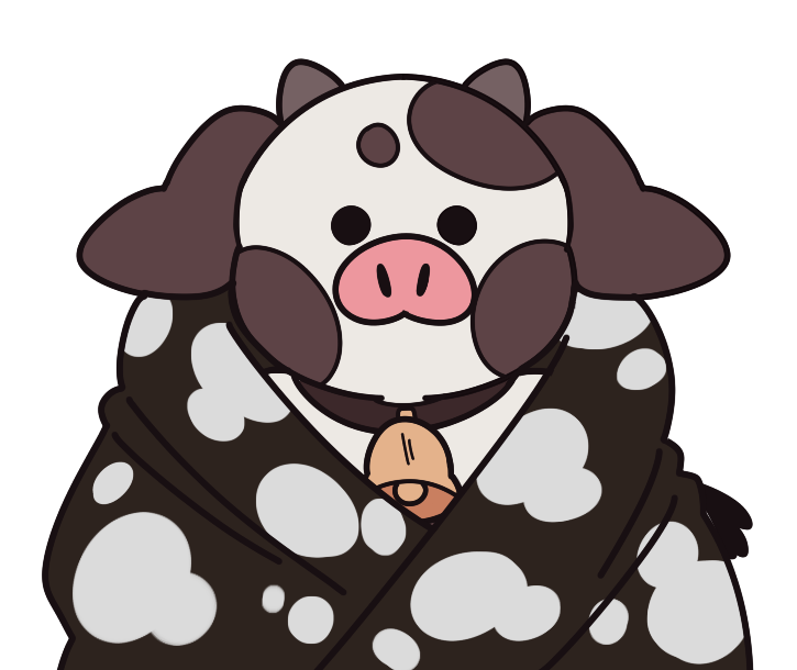 #VTuberUprising hello!! My name is Bo!! I'm a clumsy little cow who may or may not grow bigger and better when shown a little love!💋 I love to stream games and art! It's lovely to meet you! I do my best to stream once a week, I'd love to see you there!🐮