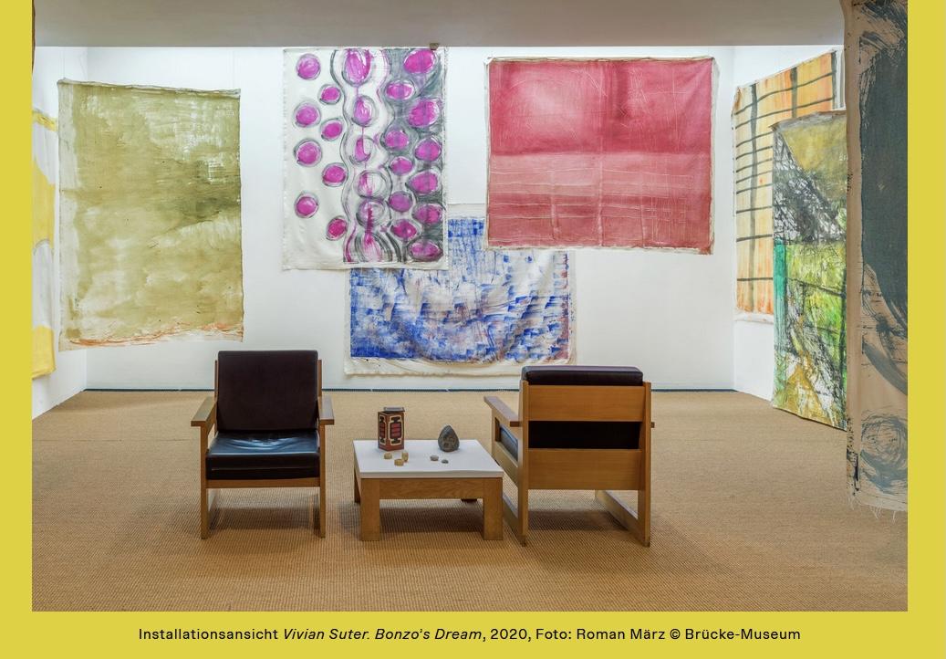 """💐🎉Herzlichen Glückwunsch, #Brücke-Museum! Die Ausstellung """"Vivian Suter. Bonzo's Dream"""" wurde vom Kunstkritikerverband #AICA zur #Sonderausstellung des Jahres 2020 gekürt! ➔ https://t.co/F308ugcnGr @klauslederer https://t.co/hGqH4YGFzK"""