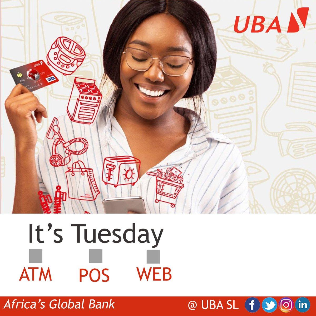 Enjoy the Cashless Life with UBA Prepaid Card  #UBAPrepaidCard #UBASierraLeone #TuesdayMorning #AfricasGlobalBank