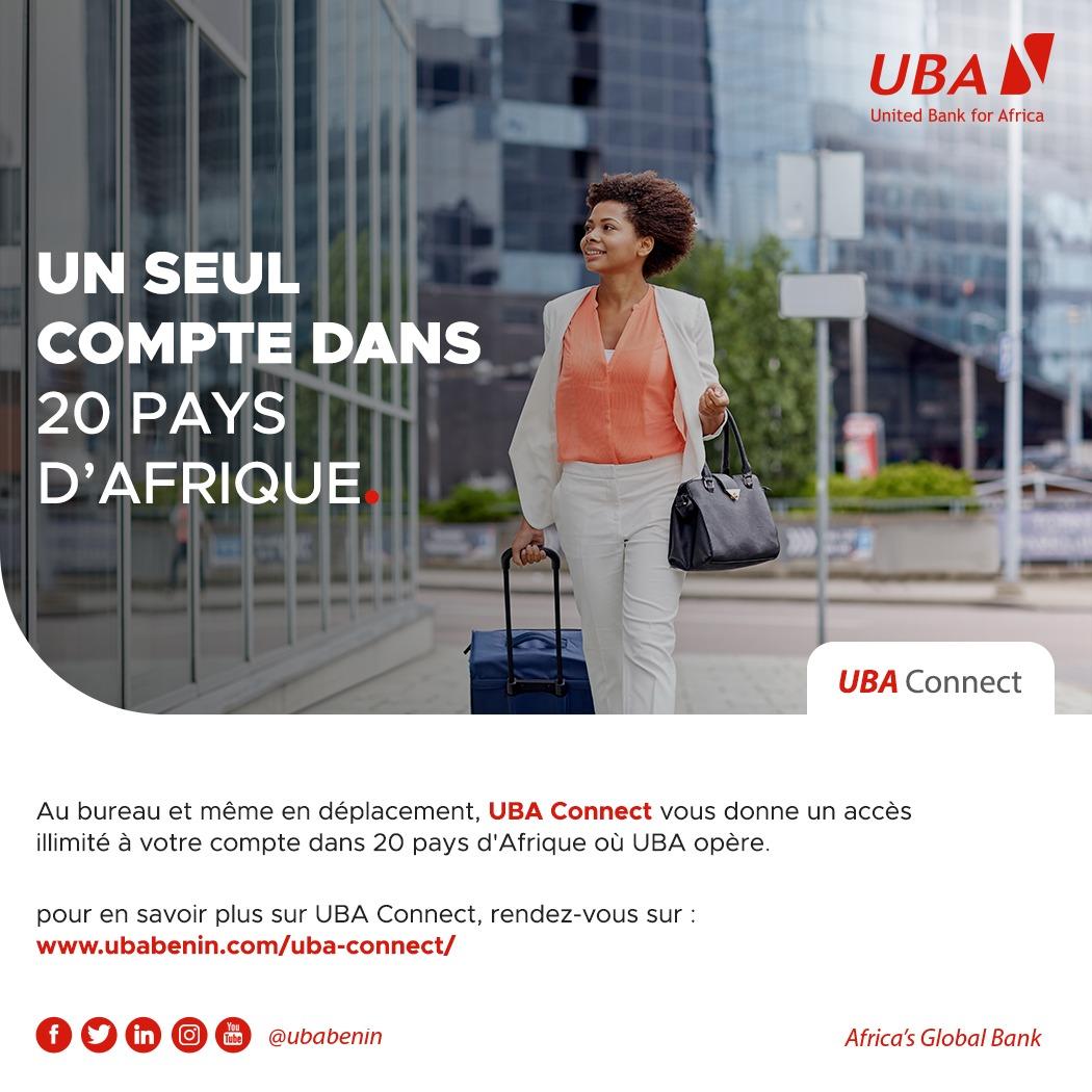 Avec UBA Connect, votre compte vous suit partout ! Profitez d'un accès illimité à votre compte pour effectuer vos transactions à partir de n'importe quelle agence UBA dans 20 pays d'Afrique   #UbaBénin #AfricasGlobalBank #UBAConnect #wasexo #team229 #Bénin