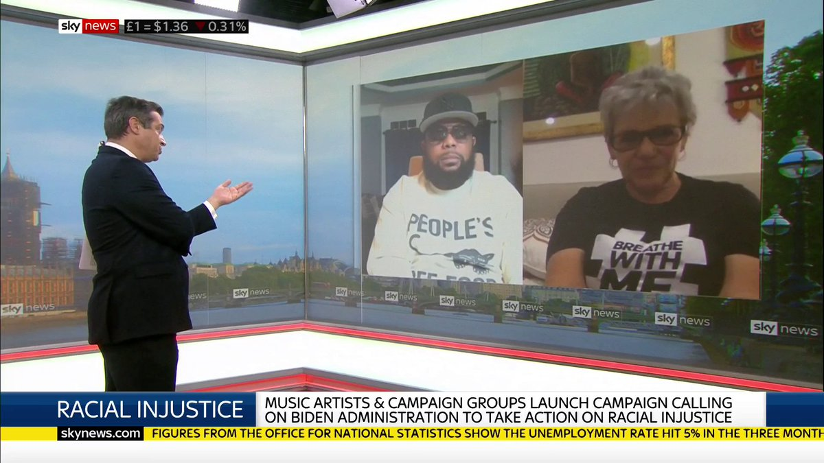 Co-founders of #BreatheWithMe revolution Leigh Blake and Prophet tell Sky News about their campaign for a commission on racial injustice in the US, saying 'we can't have racial equity without truth'.  Today's top stories: