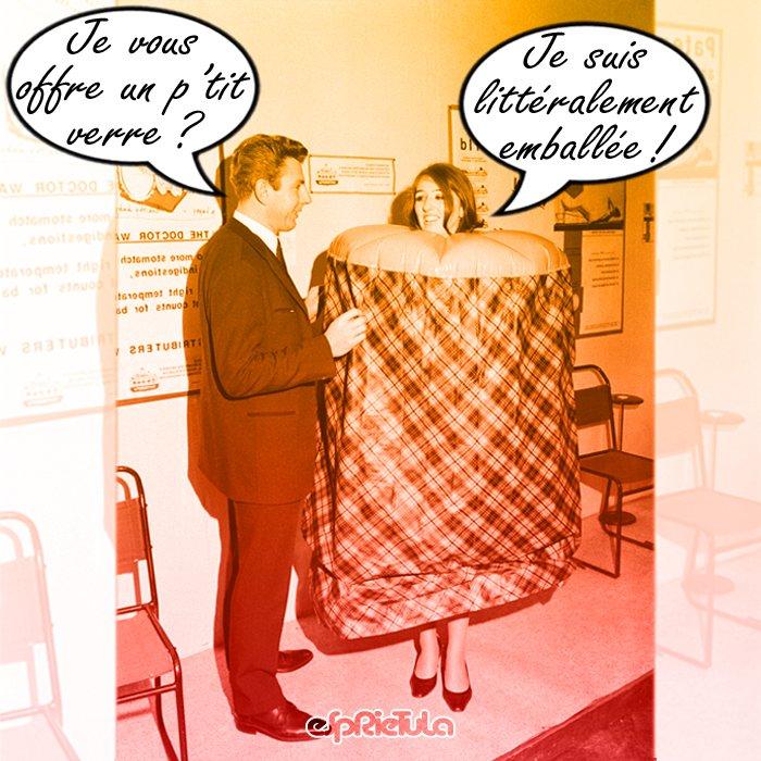 * Je vous offre un p'tit verre ? * Je suis littéralement emballée !  #alcool #bar #boisson #drague #emballage #esprietula #humour #igolem #invitation #offre #petit #séduction #verre #accostage #baratin #racolage #paquet #cadeau #pack #paquetage #breuvage #apéritif #bière #soda