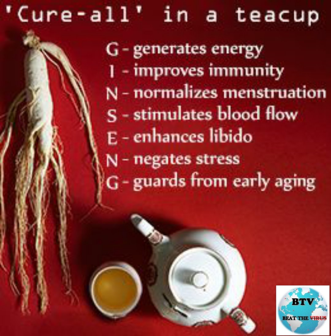 Ginseng has been used for improving overall health.Also used to strengthen the immune system  and help fight off stress and disease.  Gingseng tea and gingseng wine are  both quite popular in Korea#Tea #health #healthcare #Ginseng #Immunity #food #HealthyLiving