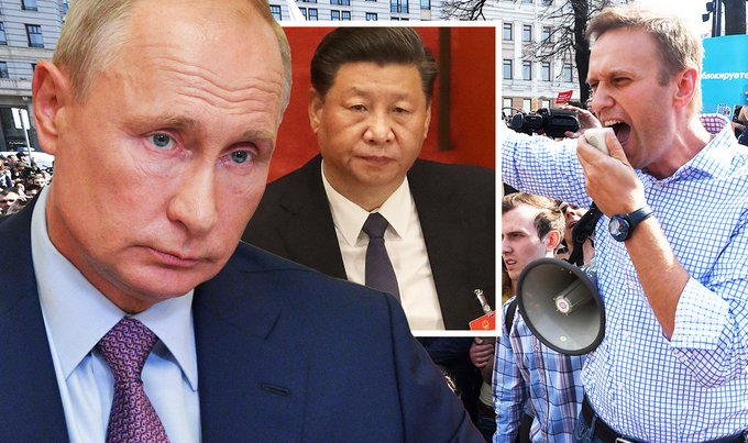 Putin on brink: Border dispute with China unveiled as Navalny protests cripple Moscow Photo