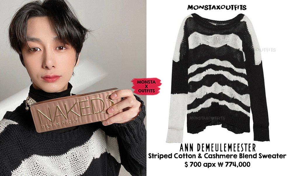 Hyungwon X Ann Demeulemeester 210123 Twitter Update 2021.2 #뷰티쁠 2월호  BEAUTY+ February Issue  🛍️ Striped Blend Sweater  품절/Sold Out  #몬스타엑스 X #어반디케이  #MONSTAX #MONSTA_X #형원 #MX_O_HW @OfficialMonstaX