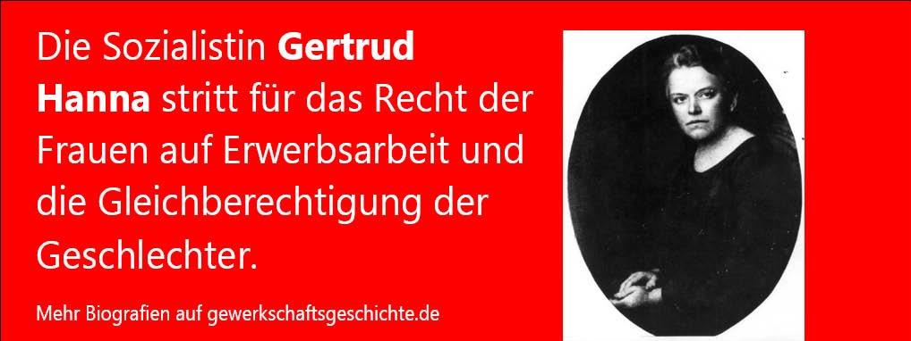 #OnThisDay 1944 nahm sich Gertrud Hanna das Leben. Sie war von 1909 bis 1933 Mitglied der Generalkommission der Gewerkschaften beziehungsweise des Bundesvorstands des ADGB (heute @dgb_news). Mehr unter: