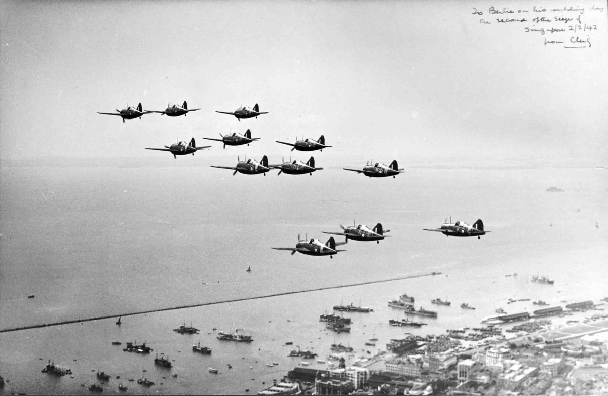 #OnThisDay in 1942 : No. 100 and No. 36 Squadron launched an offensive against Japanese forces landing on the east coast of Malaya. 12 Vildebeest bombers accompanied by Hurricane and Buffalo fighters attacked Japanese transports and landing craft. 5 Vildebeests were shot down.
