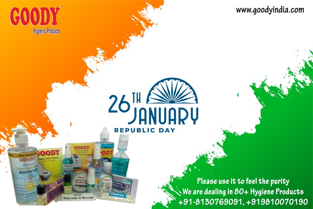 Happy Republic Day From Goody India https://t.co/ztbT6z9Kyy