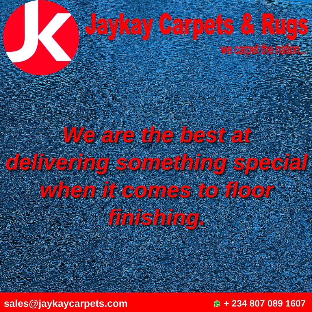 We are the best at delivering something special when it comes to floor finishing.  #JaykayCarpets #Carpets #WovenRugs #InteriorDesign #Decor #HomeDecor #InteriorDecor #ArtificialGrassCarpet #Flooring #Kano #Abuja #Lagos #Aba #Onitsha #Nigeria #Business #Sales #TuesdayTips #makeup