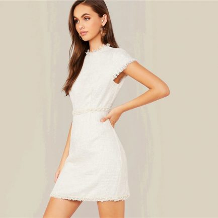 Shop Cap Sleeve Elegant Bodycon Short Ladies Dress @powerdaysale    #minidress #Bodycondress #Elegantstyle #OfficeLady #officewear #officelooks #likeforlike #followme
