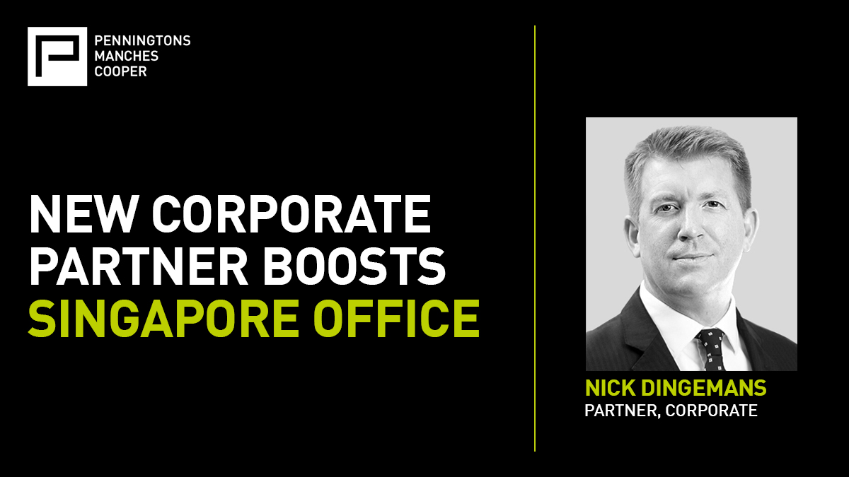 Our #Singapore office is expanding its capabilities with the appointment of Nick Dingemans, a prominent corporate #lawyer with a significant track record in cross-border transactions across the #AsiaPacific region: