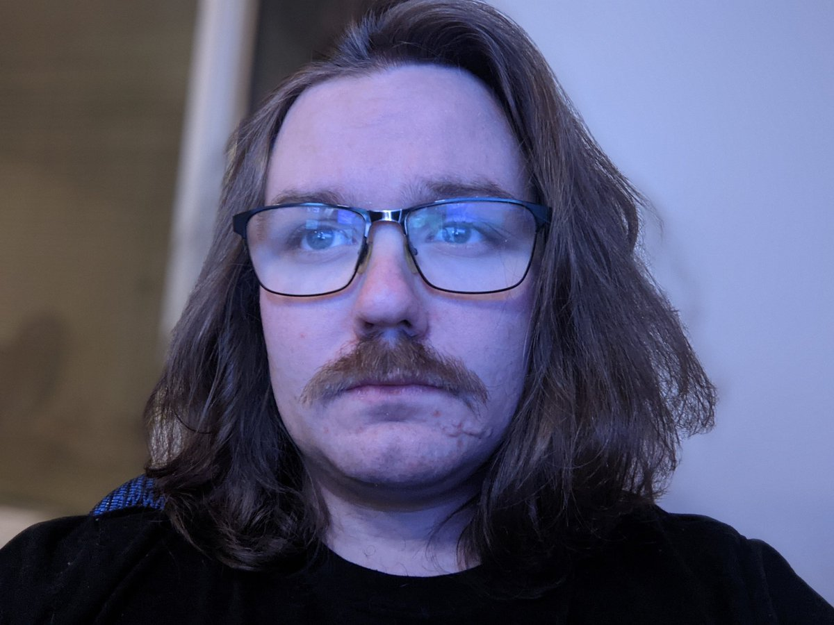 i finally shaved... but am challenging myself to keep the mustache at least for a few days. hate it.